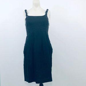 Yoana Baraschi Black Shimmer Twisted Strap Dress